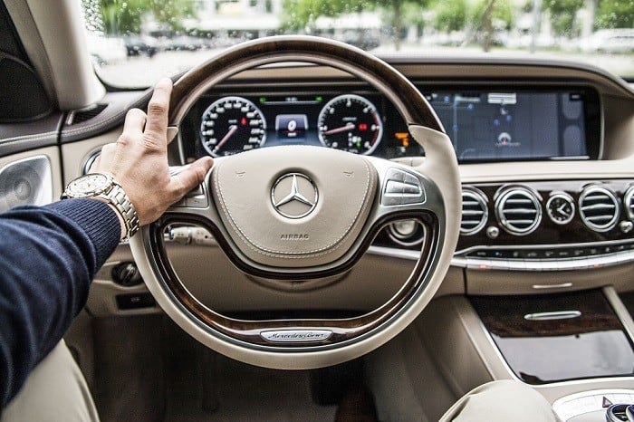 mercedes double din with navigation