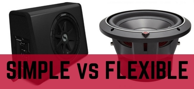 subwoofer with built in amp vs component subwoofer