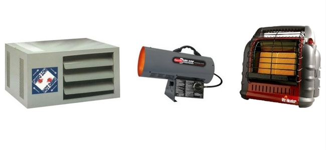 Garage heaters types