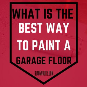 What is the best way to paint a garage floor